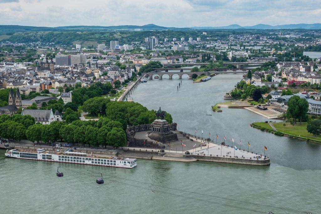 Deutsches Eck in Koblenz erleben